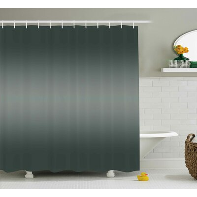 Beaird Grey Smoke Fume Design Shower Curtain Size: 69 W x 84 L