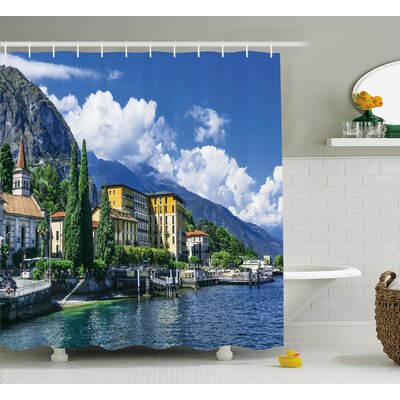 Italy Landscape of Lake Como Shower Curtain Size: 69 W x 84 L