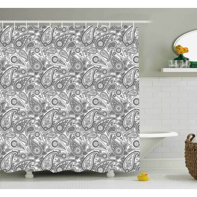 Grove Digital Persian Leaf Shower Curtain Size: 69 W x 84 L