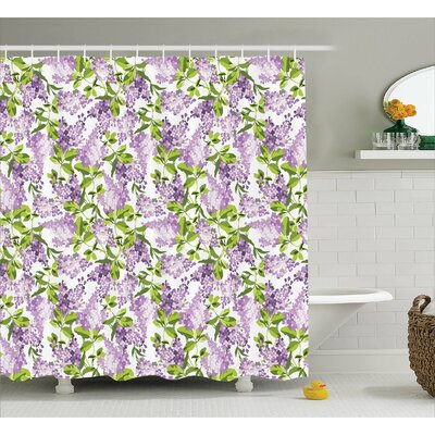 Burnes Botanic Spring Plants Shower Curtain Size: 69 W x 75 L