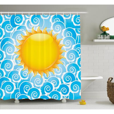 Lucien Holiday Joy Ocean Sea Shower Curtain Size: 69 W x 75 L