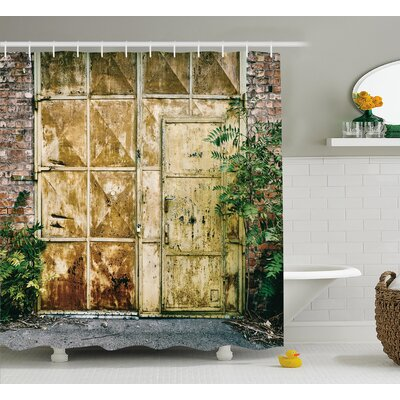 Berau Rustic Brick House Shower Curtain Size: 69 W x 84 L