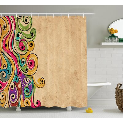 Georgetta African Folk Art Forms Shower Curtain Size: 69 W x 84 L