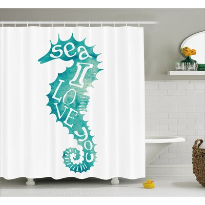 Roxanna Love is in Sunny Sea Shower Curtain Size: 69 W x 70 L
