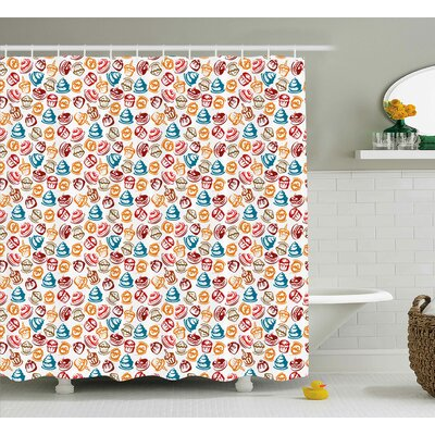 Savion Cupcakes Cakes Creams Shower Curtain Size: 69 W x 70 L
