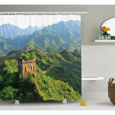 Nature Idyllic China Scenery Shower Curtain Size: 69 W x 75 L