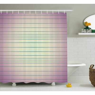 Baumbach Stripes Shower Curtain Size: 69