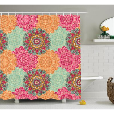 Delrick Decor Antique Mandala Shower Curtain Size: 69 W x 70 L