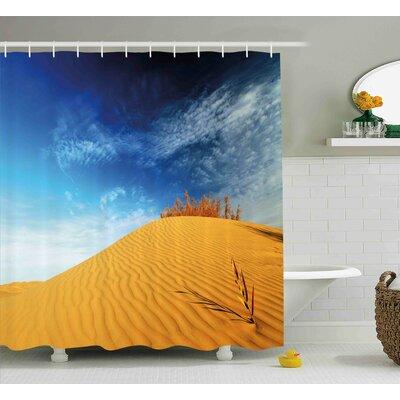 Landscape Desert Sand Dunes Shower Curtain Size: 69 W x 84 L