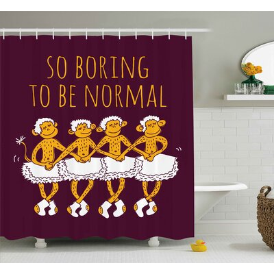 Lottie Dancing Ballerina Quote Shower Curtain Size: 69 W x 75 L