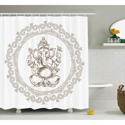 Beldin Mandala Indian Religion Shower Curtain Size: 69 W x 70 L