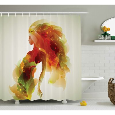 Florance Girl Abstract Lady Shower Curtain Size: 69 W x 75 L