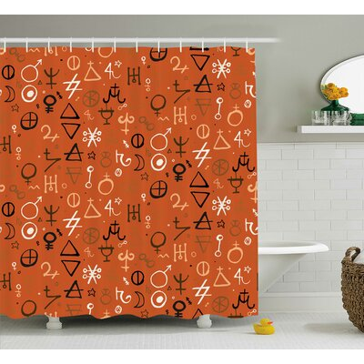 Cearbhall Western Aztec Spiritual Shower Curtain Size: 69 W x 70 L