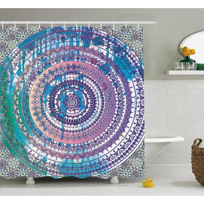 Bellegarde Ethnic Mandala Eastern Shower Curtain Size: 69 W x 75 L