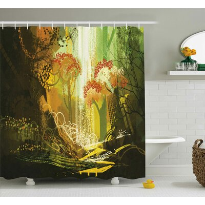 Galghard Vivid Autumn Season Print Shower Curtain Size: 69 W x 75 L