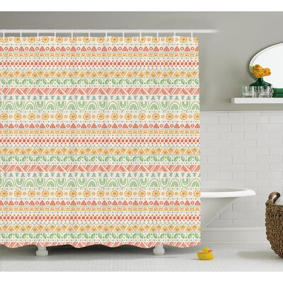 Park Geometric Aztec Shapes Shower Curtain Size: 69 W x 75 L