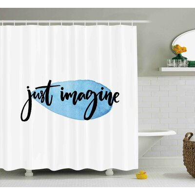 Benninger Just Imagine Inspiration Shower Curtain Size: 69 W x 70 L