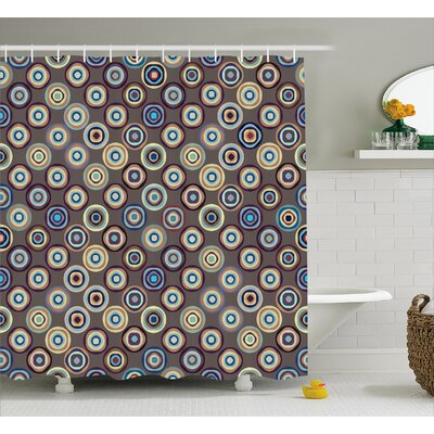 Burkett Abstract Big Dots Shower Curtain Size: 69 W x 70 L