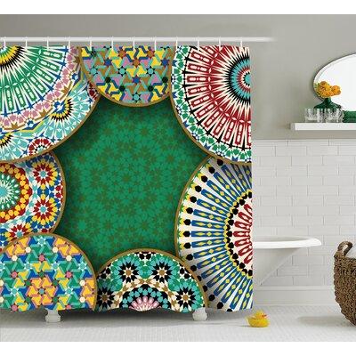 Ivonne Oriental Hippie Motif Shower Curtain Size: 69 W x 84 L