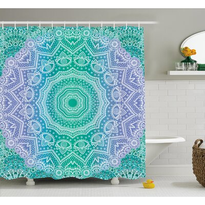 Cort Mandala Geometric Figure Shower Curtain Size: 69 W x 75 L