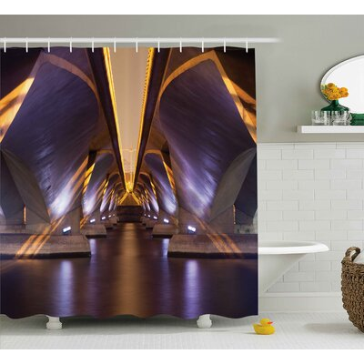 Ancient Asian Ethnic City View Shower Curtain Size: 69 W x 75 L