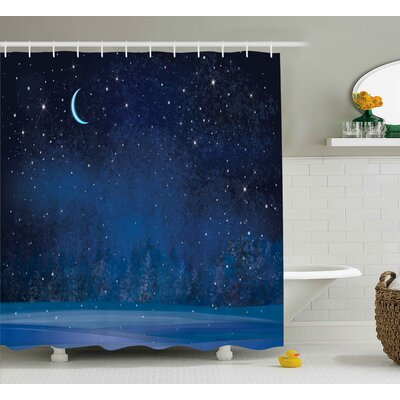 Luke Winter Season Night Shower Curtain Size: 69 W x 84 L