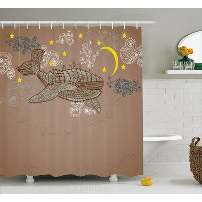 Lottie Steampuck Whale on Air Shower Curtain Size: 69 W x 75 L