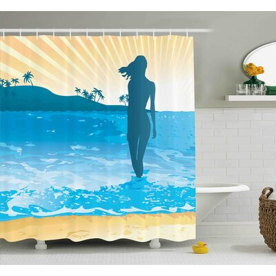 Beaty Sea Shore Ocean Summer Shower Curtain Size: 69 W x 84 L