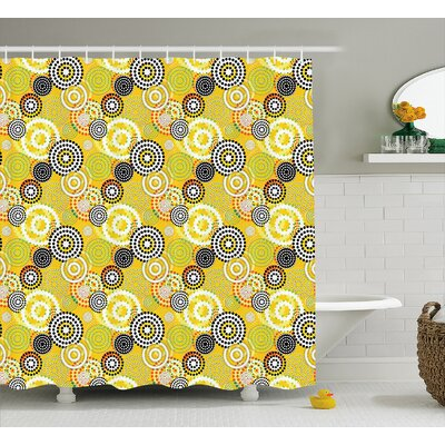 Burkett Psychedelic Rings Shower Curtain Size: 69 W x 75 L