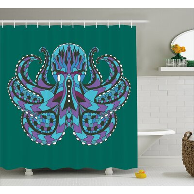 Ethnic Legendary Totem Shower Curtain Size: 69 W x 75 L