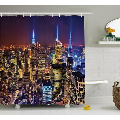 Bequette Fourth of July Day USA Shower Curtain Size: 69