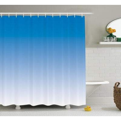 Fred Skyscape for Blue Lovers Print Shower Curtain Size: 69 W x 84 L