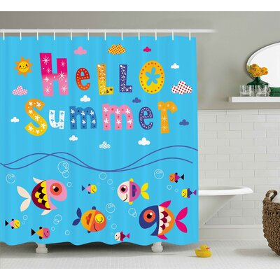 Luther Patchwork Style and Quote Shower Curtain Size: 69 W x 84 L