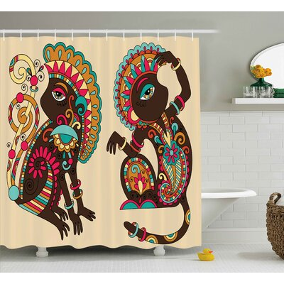 Barloy Indian Ethnic Patterns Shower Curtain Size: 69 W x 75 L
