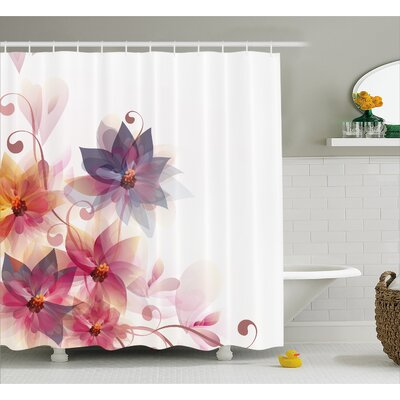 Gould Flowers Burt and Leaf Shower Curtain Size: 69 W x 70 L