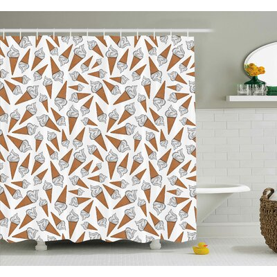 Benavidez Decor Yummy Desert Gelato Shower Curtain Size: 69 W x 84 L
