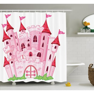 Lucy Princess Magic Kingdom Shower Curtain Size: 69 W x 84 L