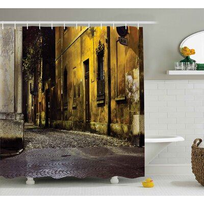 Street Dark City Old Avenues Shower Curtain Size: 69 W x 75 L