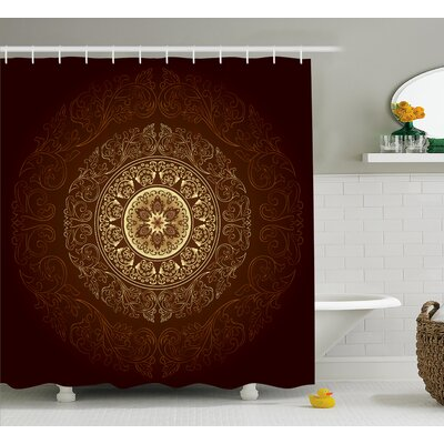 Audington Asia Spiritiual Culture Shower Curtain Size: 69 W x 70 L