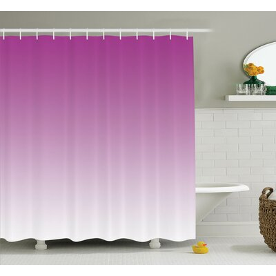 Fred Romantic Modern Flowers Shower Curtain Size: 69 W x 84 L