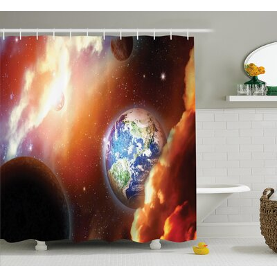Helga Nebula Stars in Solar Shower Curtain Size: 69 W x 75 L