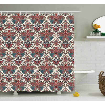 Bautista Oriental Ethnic Persian Shower Curtain Size: 69 W x 70 L