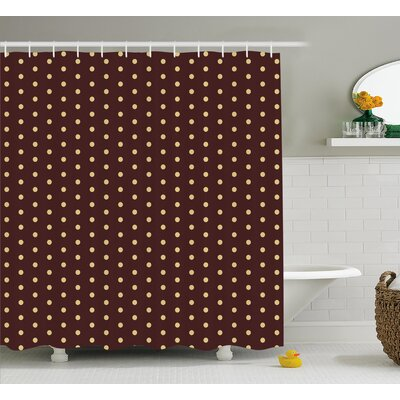Briarwood Old Fashion Retro Dots Shower Curtain Size: 69 W x 75 L