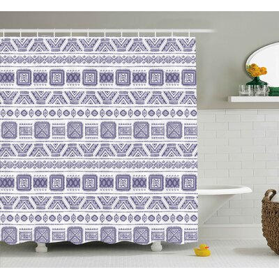 Aubriana Mexico Aztec Ethnic Boho Shower Curtain Size: 69 W x 75 L