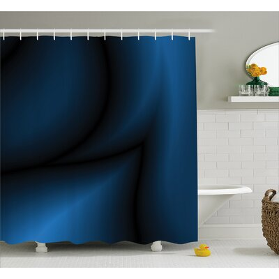 Navy Light Deep Ocean Sealife Shower Curtain Size: 69 W x 75 L