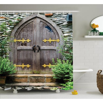 Traditional Fairy Castle Decor Shower Curtain Size: 69 W x 70 L
