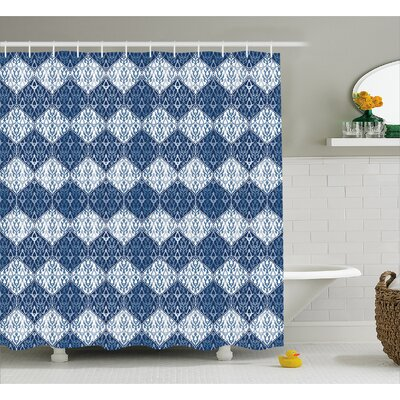 Fairway Oriental Patchwork Decor Shower Curtain Size: 69 W x 84 L