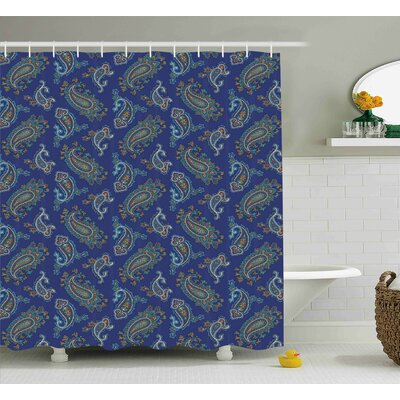 Darvell Ethnic Droplet Motif Shower Curtain Size: 69 W x 84 L