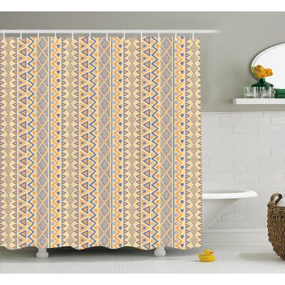 Cyrano Stripes Native American Shower Curtain Size: 69 W x 75 L