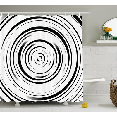 Caressa Art Hypnotic Lines Shower Curtain Size: 69 W x 84 L